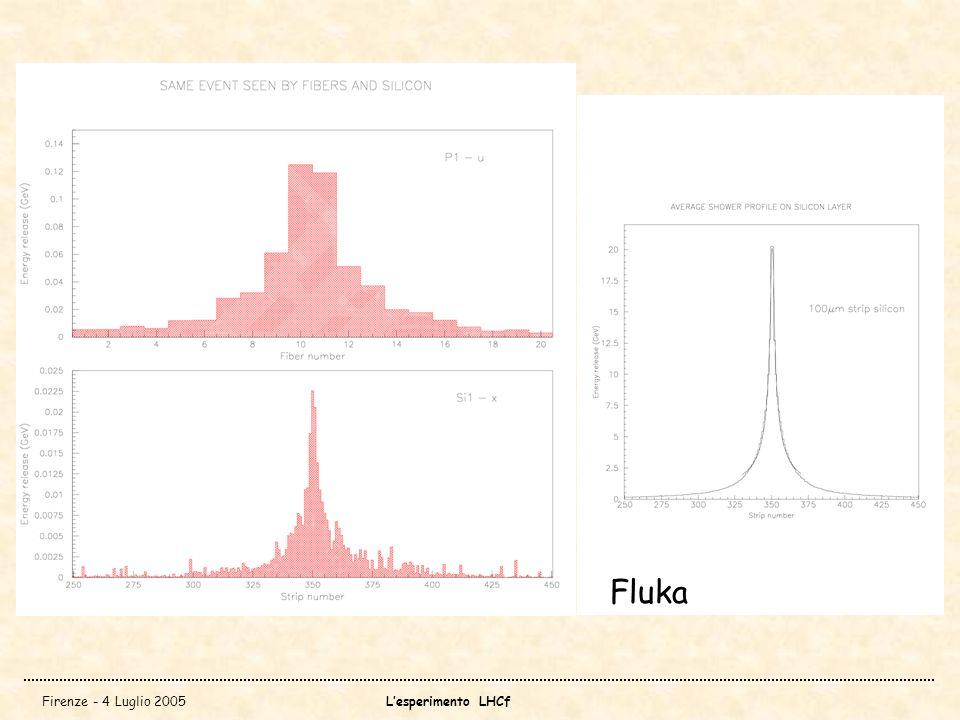 Firenze - 4 Luglio 2005Lesperimento LHCf Fluka