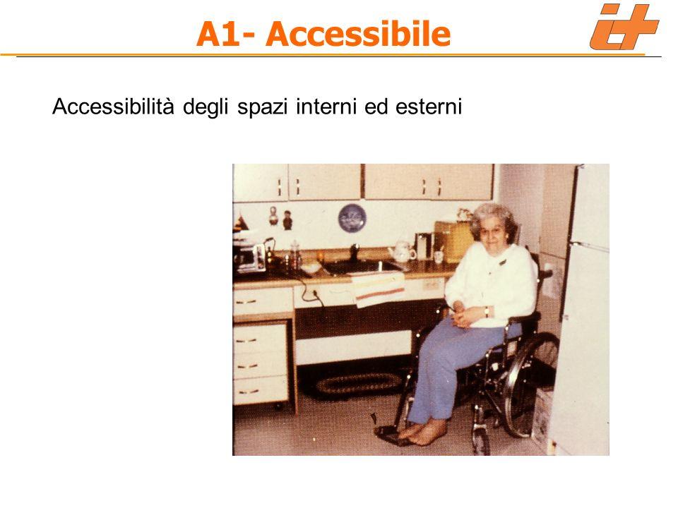 A1- Accessibile Accessibilità degli spazi interni ed esterni