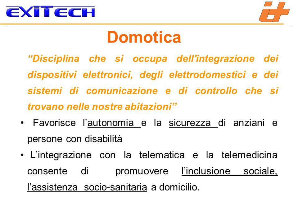 Domotica Disciplina che si occupa dell'integrazione dei dispositivi elettronici, degli elettrodomestici e dei sistemi di comunicazione e di controllo