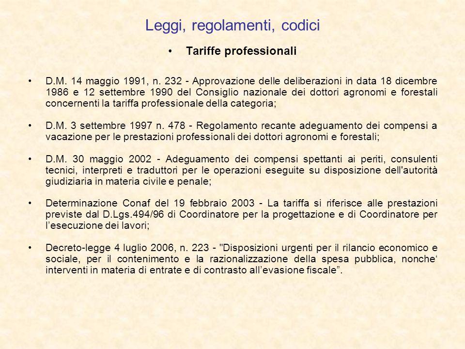 Leggi, regolamenti, codici Tariffe professionali D.M. 14 maggio 1991, n. 232 - Approvazione delle deliberazioni in data 18 dicembre 1986 e 12 settembr