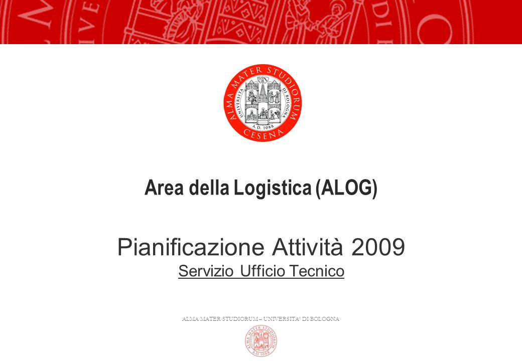 ALMA MATER STUDIORUM – UNIVERSITA DI BOLOGNA Area della Logistica (ALOG) Pianificazione Attività 2009 Servizio Ufficio Tecnico
