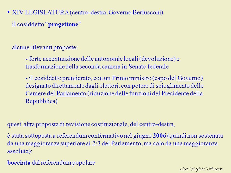 questa proposta di revisione costituzionale, del centro-sinistra, è stata sottoposta a referendum confermativo nellottobre 2001 (quindi non sostenuta