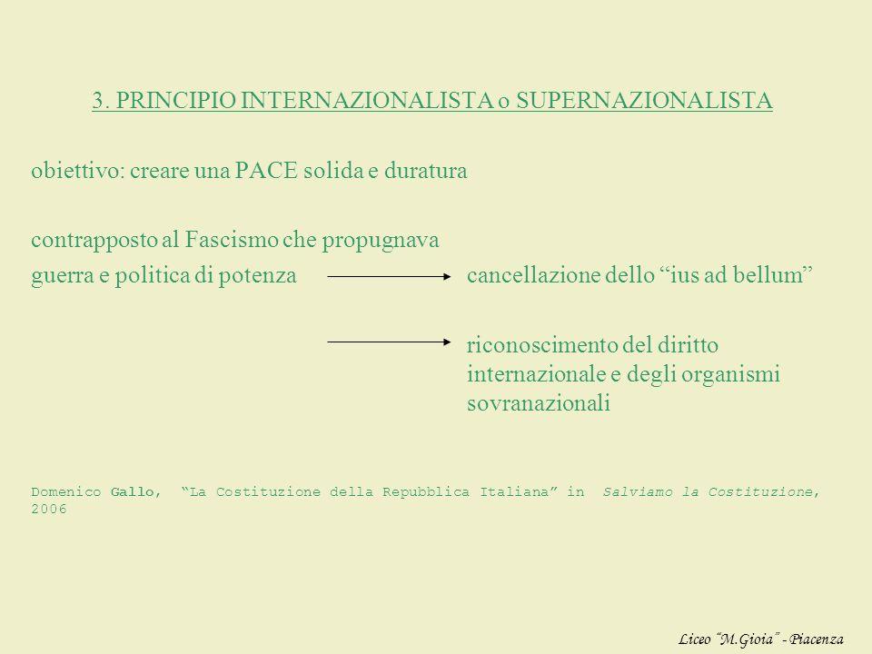 2. PRINCIPIO LAVORISTA fondamento della Repubblica è il LAVORO (non la nascita, non la ricchezza…) la dignità del lavoro è collegata ai diritti della