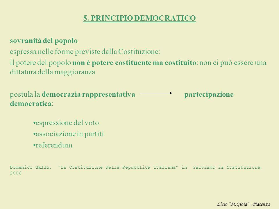 Pluralità di autonomie individuali: libertà di pensiero libertà di associazione libertà di religione Pluralità di autonomie collettive: sindacati asso