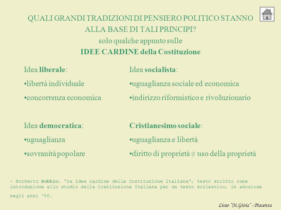 5. PRINCIPIO DEMOCRATICO sovranità del popolo espressa nelle forme previste dalla Costituzione: il potere del popolo non è potere costituente ma costi