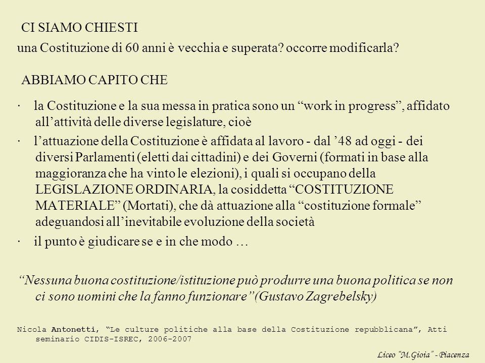 effettivamente In Italia tra i politici il dibattito è molto acceso (quali principi costituzionali sono comuni alle diverse parti politiche?) APPROFON