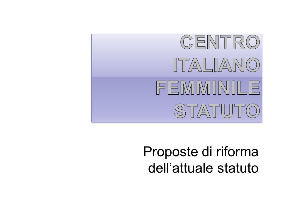 Proposte di riforma dellattuale statuto