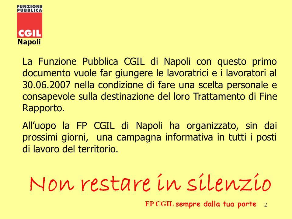 3 Napoli FP CGIL sempre dalla tua parte La legge Dini (L.335 del 8/8/95) in vigore dal 01.01.1996 ha apportato sostanziali e radicali modifiche al sistema pensionistico intervenendo sulla metodologia di calcolo della pensione.