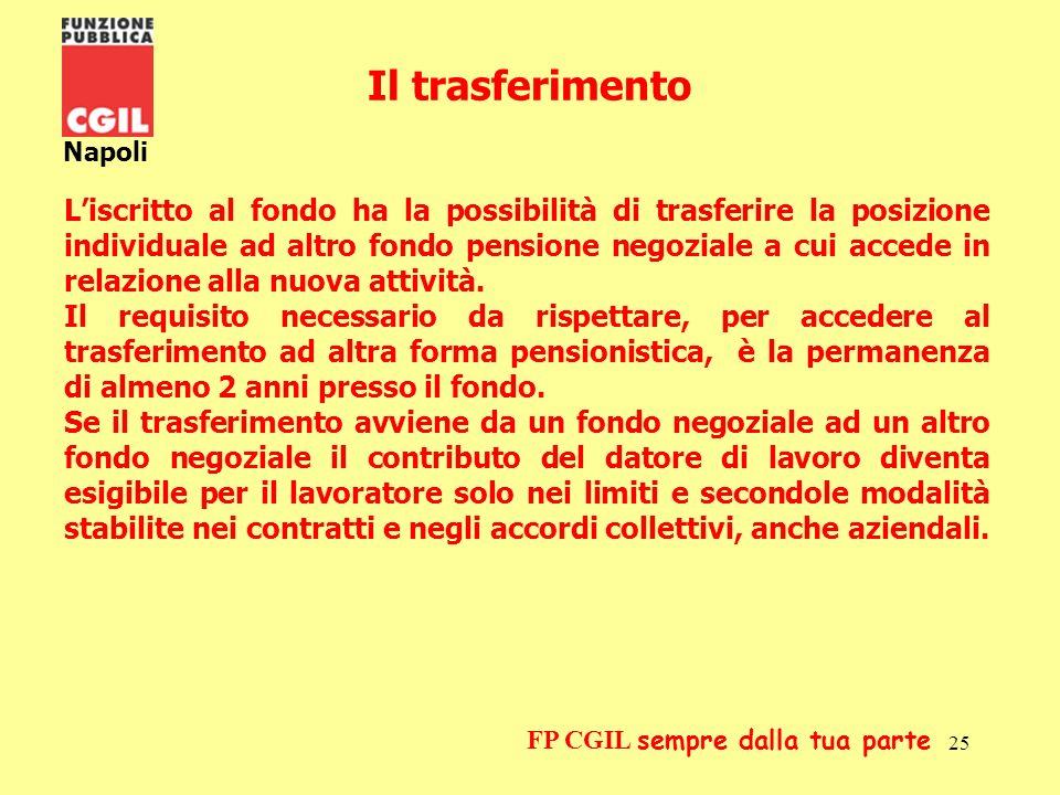 26 Napoli FP CGIL sempre dalla tua parte LA FISCALITA Il contributo trattenuto dalla retribuzione del dipendente e versato al fondo pensione è dedotto dal reddito imponibile fiscale.