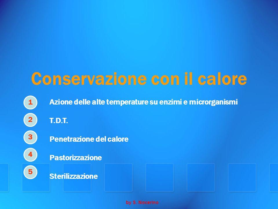 Conservazione con il calore Azione delle alte temperature su enzimi e microrganismi T.D.T. Penetrazione del calore Pastorizzazione Sterilizzazione by