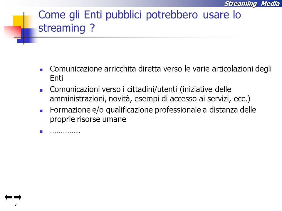 7 Streaming Media Come gli Enti pubblici potrebbero usare lo streaming .