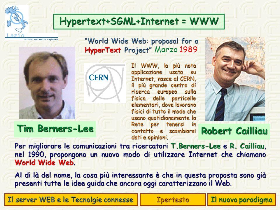 Per migliorare le comunicazioni tra ricercatori T.Berners-Lee e R.