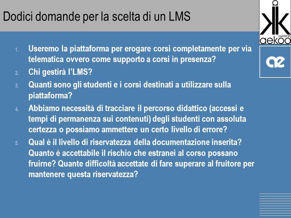 Dodici domande per la scelta di un LMS 1.
