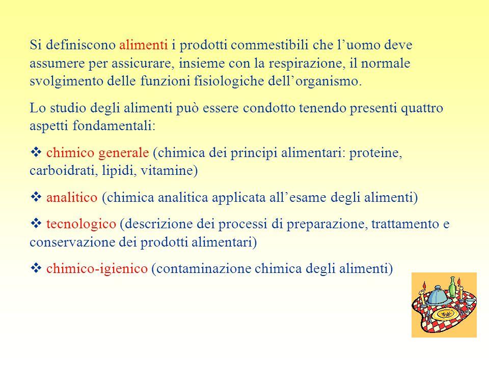Si definiscono alimenti i prodotti commestibili che luomo deve assumere per assicurare, insieme con la respirazione, il normale svolgimento delle funz