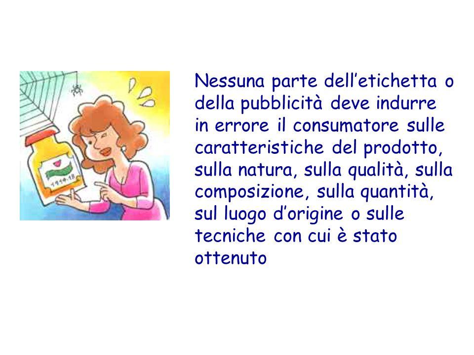 ETICHETTA NUTRIZIONALE E stata regolamentata in Italia solo dal 1993 ed attualmente facoltativa.