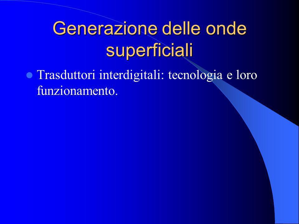 Generazione delle onde superficiali Trasduttori interdigitali: tecnologia e loro funzionamento.