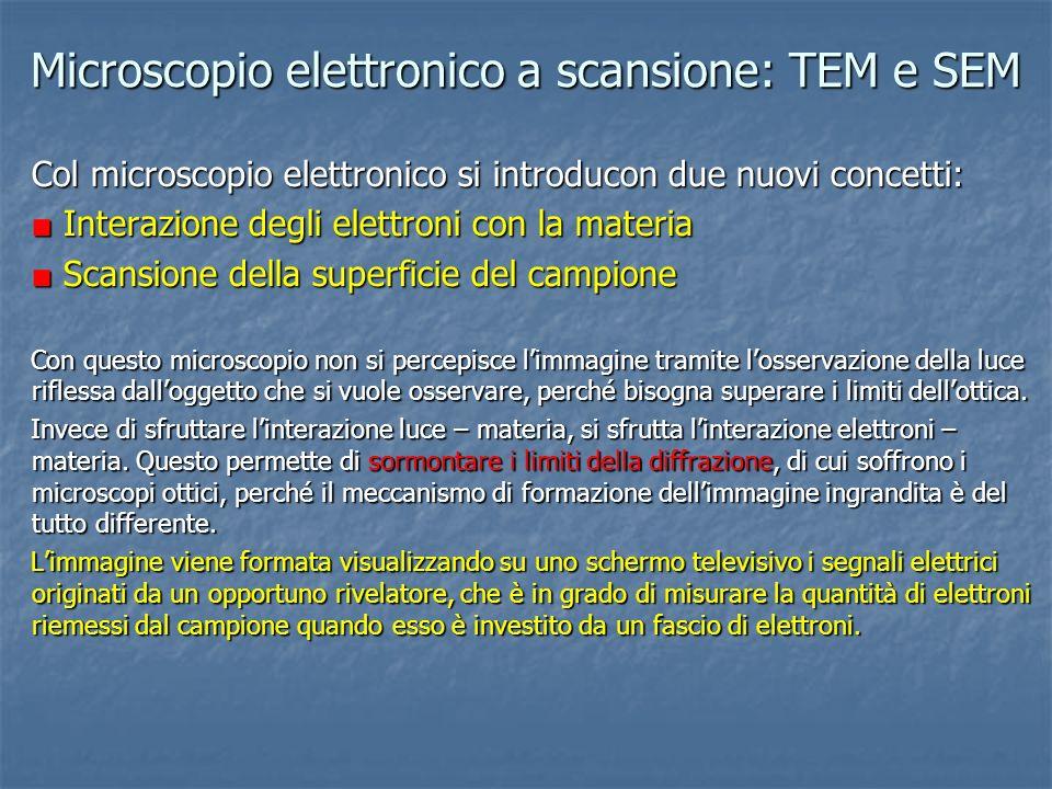 Interazione degli elettroni con la materia URTO E RIFLESSIONE URTO URTO E LIBERAZIONE DI UN ELETTRONE SECONDARIO ELETTRONE INCIDENTE (PRIMARIO) ELETTRONE PRIMARIO RETRODIFFUSO ELETTRONE SECONDARIO EMESSO Un elettrone può penetrare in un materiale, se ha sufficiente energia.
