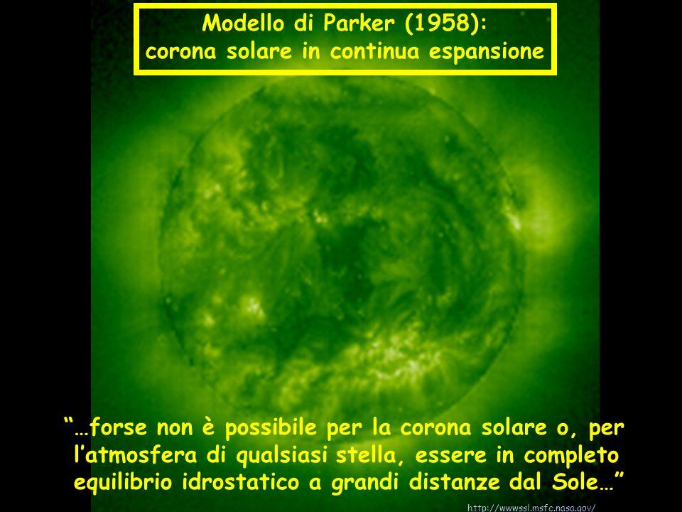 …forse non è possibile per la corona solare o, per latmosfera di qualsiasi stella, essere in completo equilibrio idrostatico a grandi distanze dal Sol