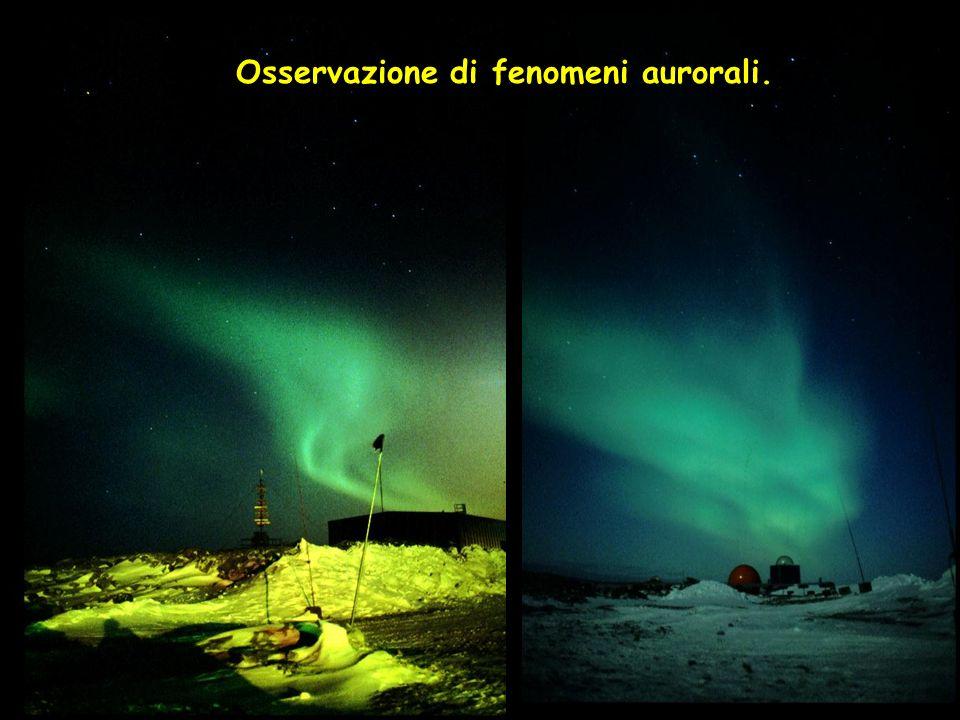 Osservazione di fenomeni aurorali.