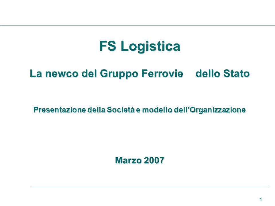 1 FS Logistica La newco del Gruppo Ferrovie dello Stato Presentazione della Società e modello dellOrganizzazione Marzo 2007