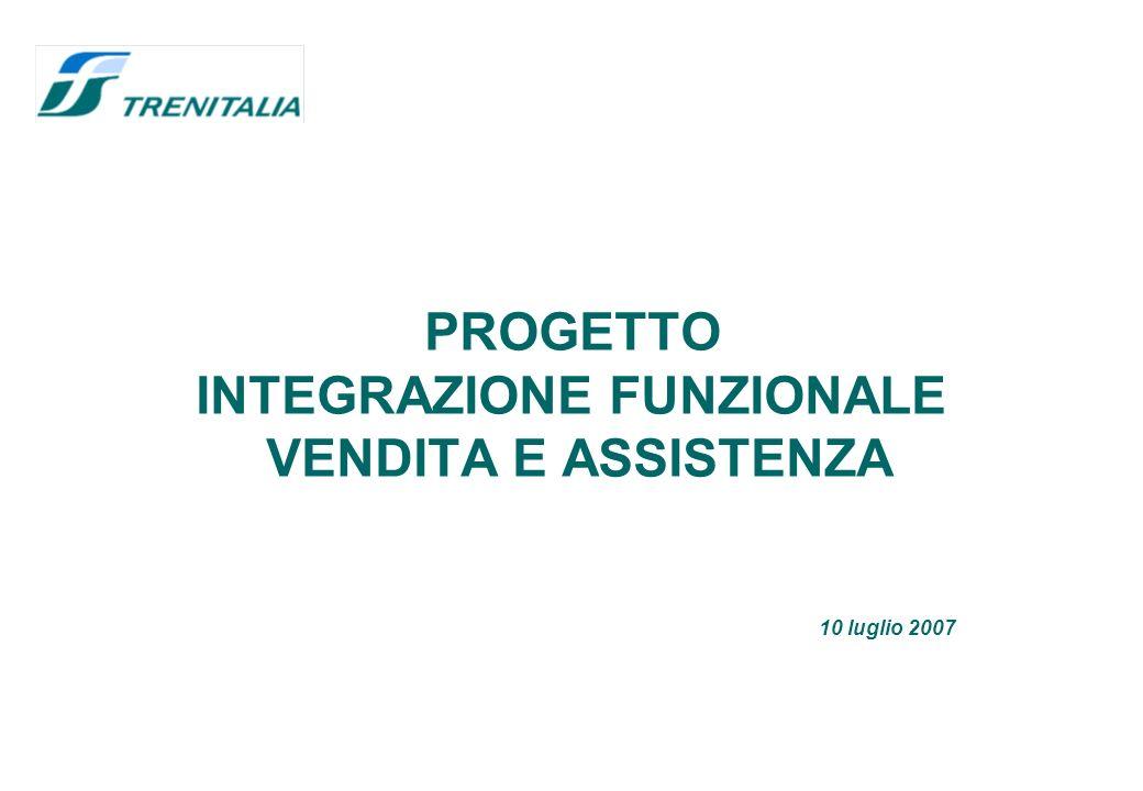 PROGETTO INTEGRAZIONE FUNZIONALE VENDITA E ASSISTENZA 10 luglio 2007