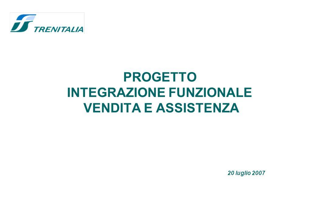 PROGETTO INTEGRAZIONE FUNZIONALE VENDITA E ASSISTENZA 20 luglio 2007