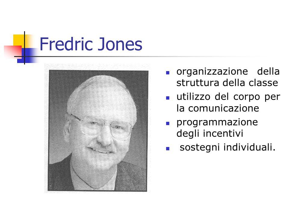 Fredric Jones organizzazione della struttura della classe utilizzo del corpo per la comunicazione programmazione degli incentivi sostegni individuali.