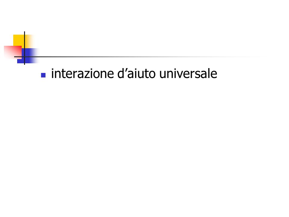 interazione daiuto universale