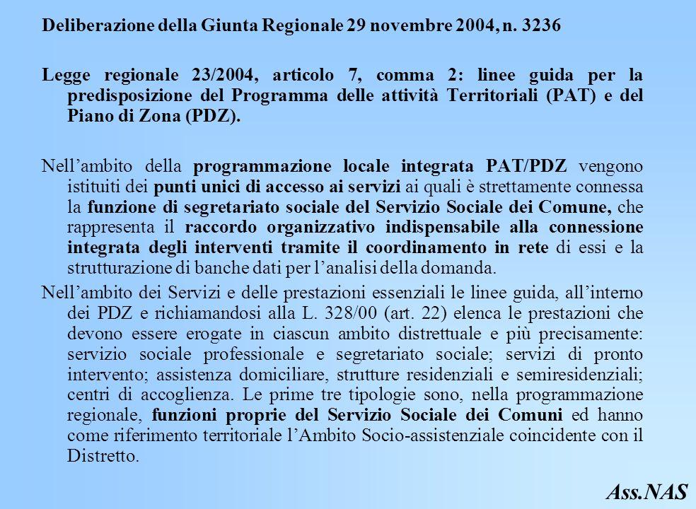 Deliberazione della Giunta Regionale 29 novembre 2004, n.