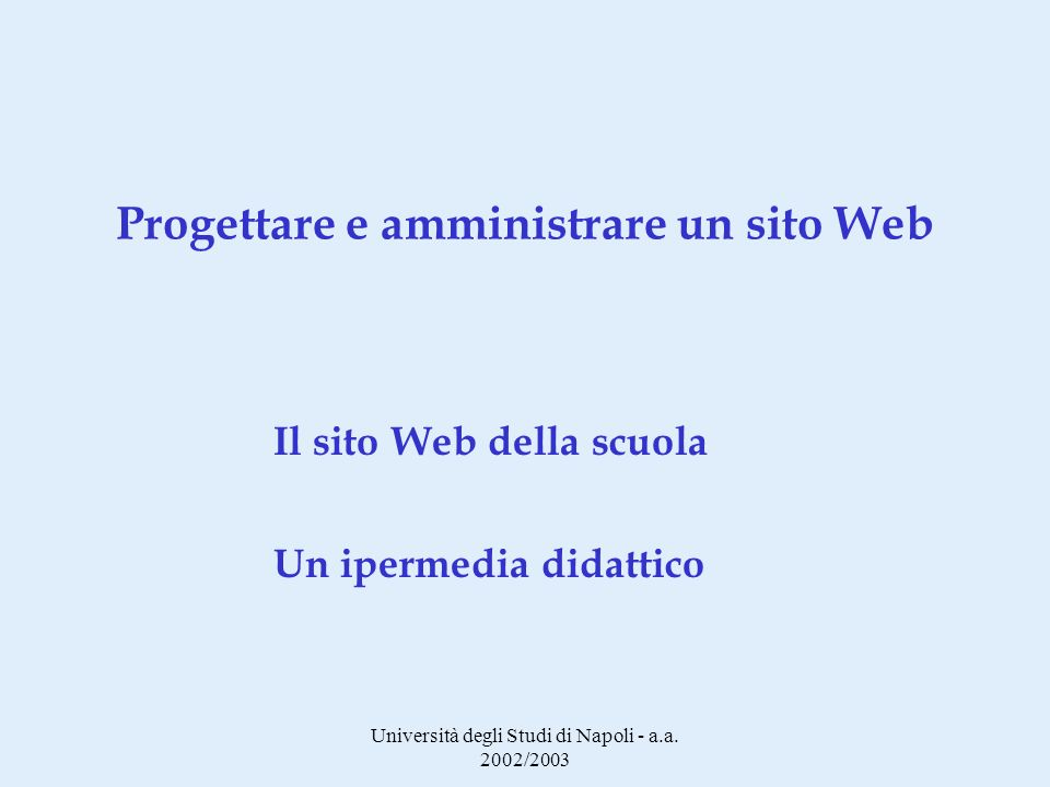 Università degli Studi di Napoli - a.a.
