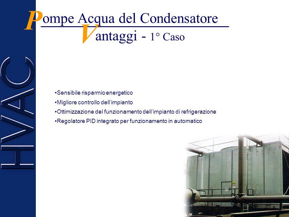 isposizione dei sensori - 1° Caso D P Il sensore di temperatura è installato sul tubo di ritorno dellacqua o nella vasca sotto la torre.