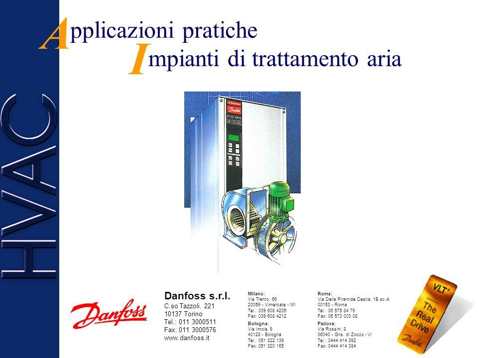A pplicazioni pratiche I mpianti di trattamento aria Danfoss s.r.l.