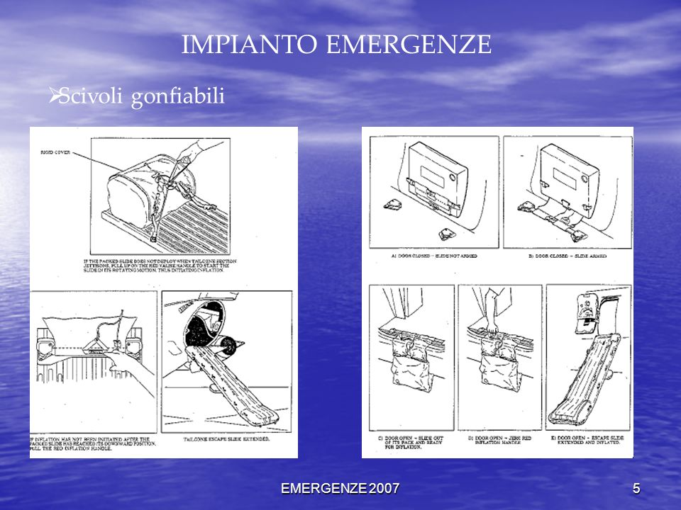 EMERGENZE 2007 5 IMPIANTO EMERGENZE Scivoli gonfiabili
