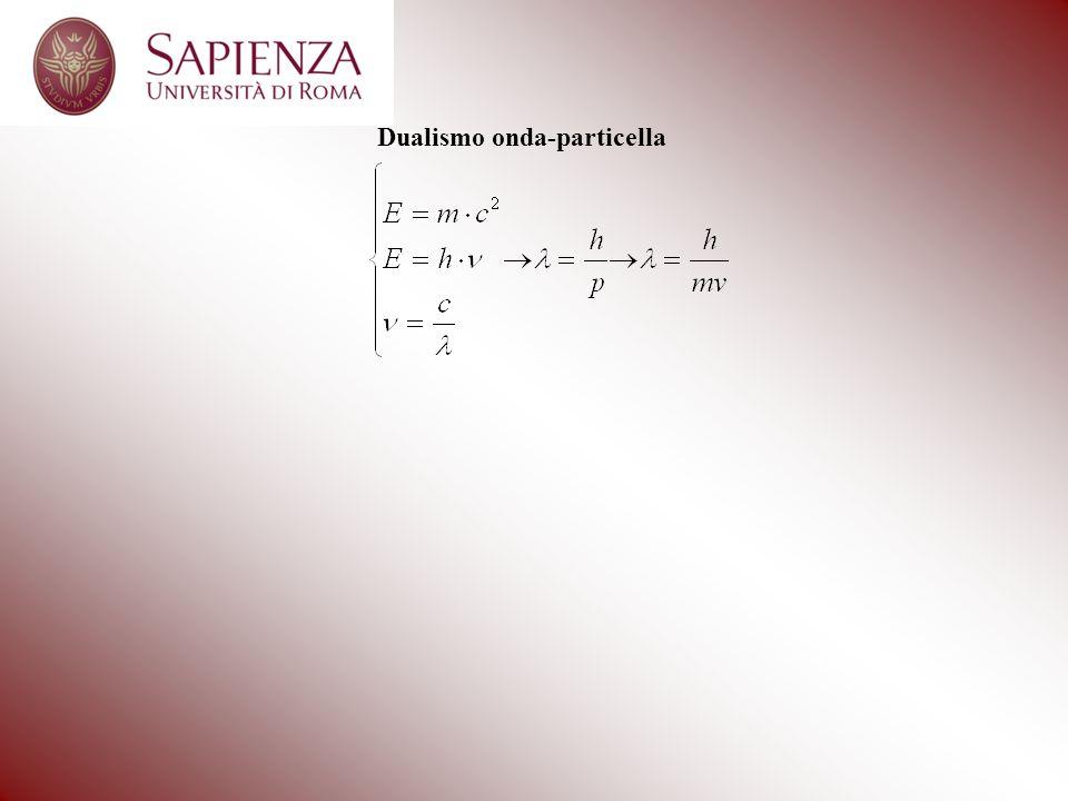 Propose, quindi, unequazione, detta equazione donda con la quale rappresentare londa associata allelettrone.