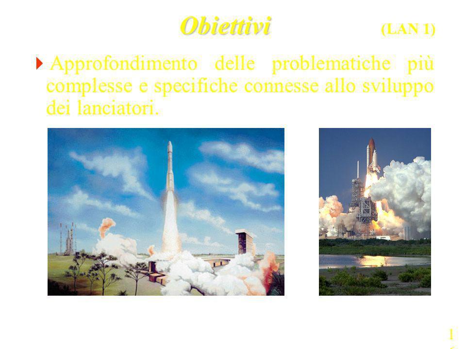 Obiettivi Obiettivi (LAN 1) Approfondimento delle problematiche più complesse e specifiche connesse allo sviluppo dei lanciatori. 16