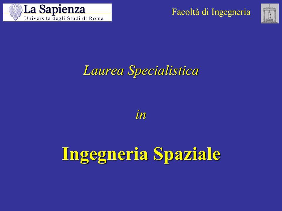 Facoltà di Ingegneria Laurea Specialistica in Ingegneria Spaziale