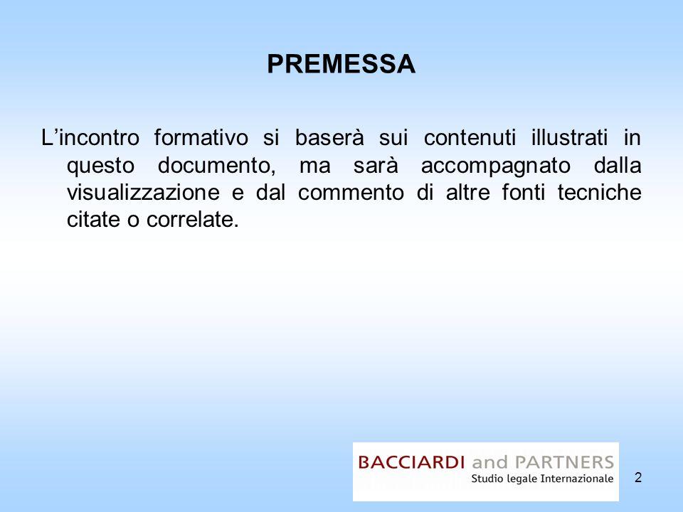 PREMESSA Lincontro formativo si baserà sui contenuti illustrati in questo documento, ma sarà accompagnato dalla visualizzazione e dal commento di altr