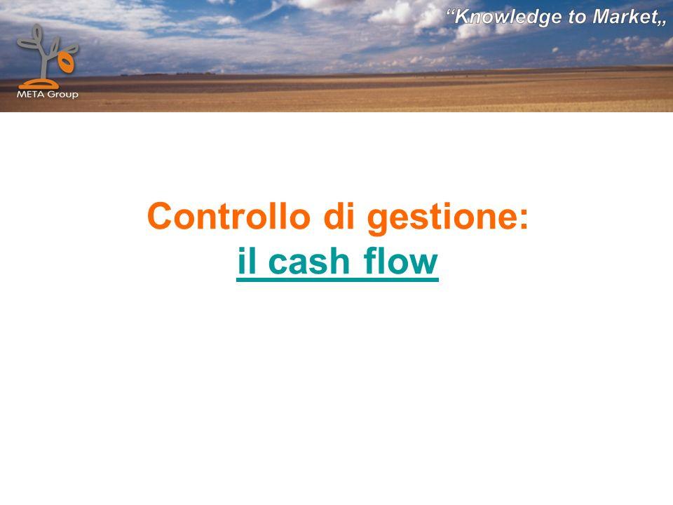 Controllo di gestione: il cash flow il cash flow