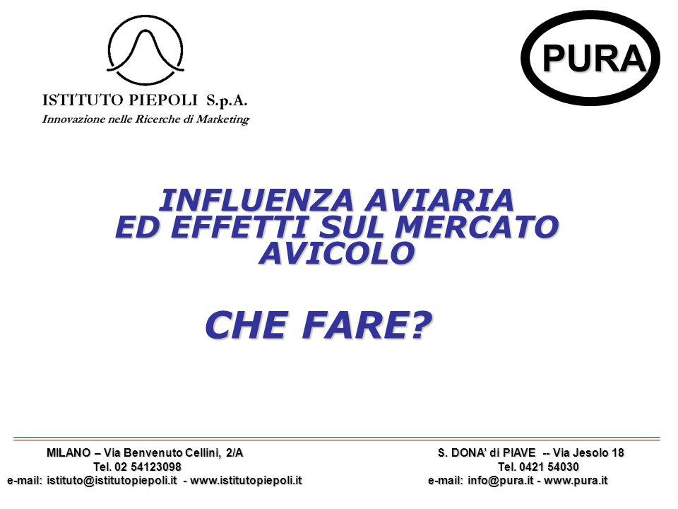 1 PURA INFLUENZA AVIARIA ED EFFETTI SUL MERCATO AVICOLO MILANO – Via Benvenuto Cellini, 2/A S.