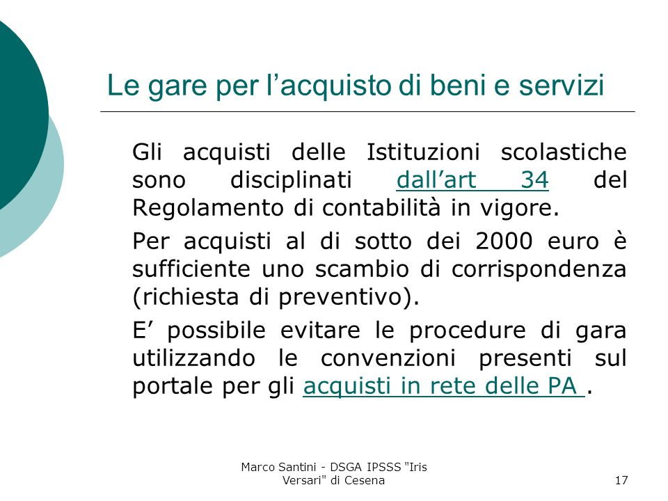 Marco Santini - DSGA IPSSS