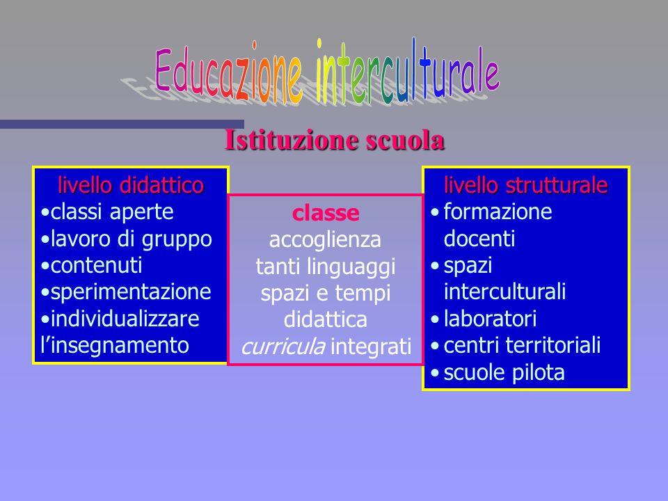 Istituzione scuola livello didattico classi aperte lavoro di gruppo contenuti sperimentazione individualizzare linsegnamento livello strutturale forma