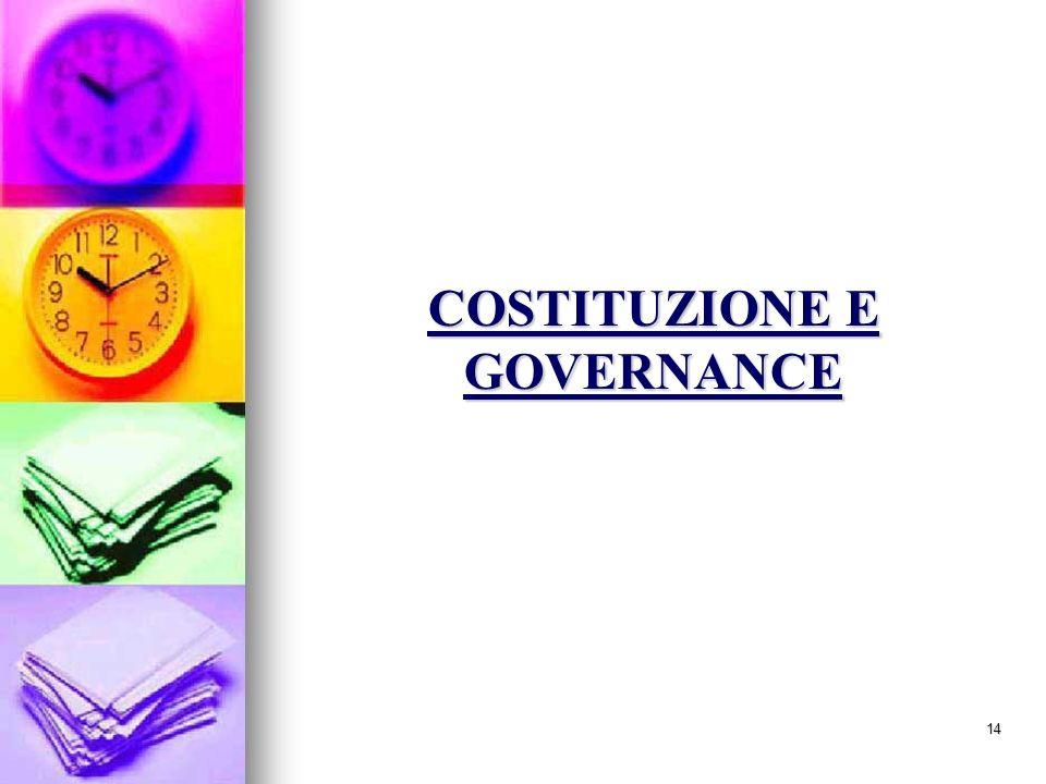 14 COSTITUZIONE E GOVERNANCE