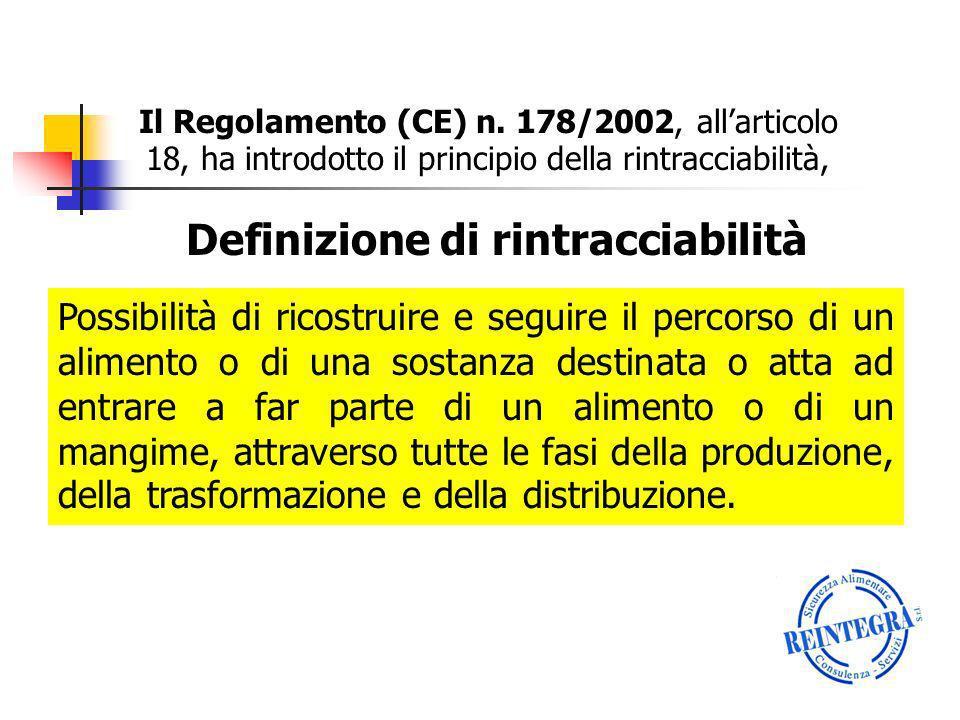 A tal fine la soluzione più semplice è rappresentata da unintegrazione del Manuale di Autocontrollo, inserendo un capitolo dedicato alla Rintracciabilità.