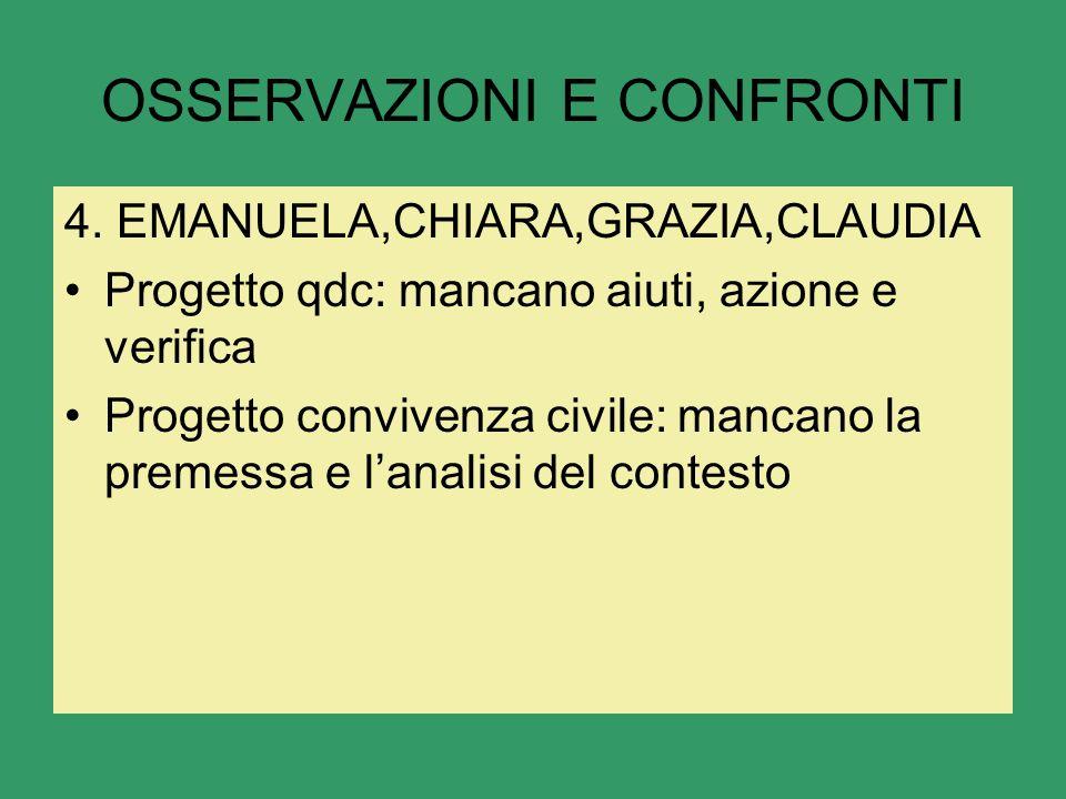 OSSERVAZIONI E CONFRONTI 4.
