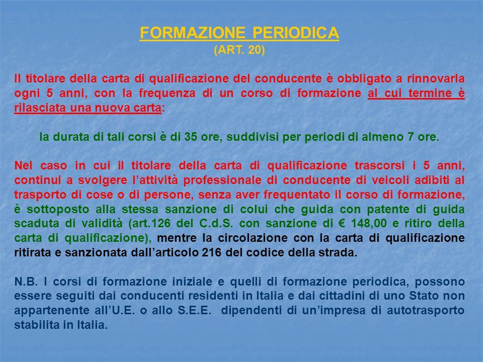 FORMAZIONE PERIODICA (ART.