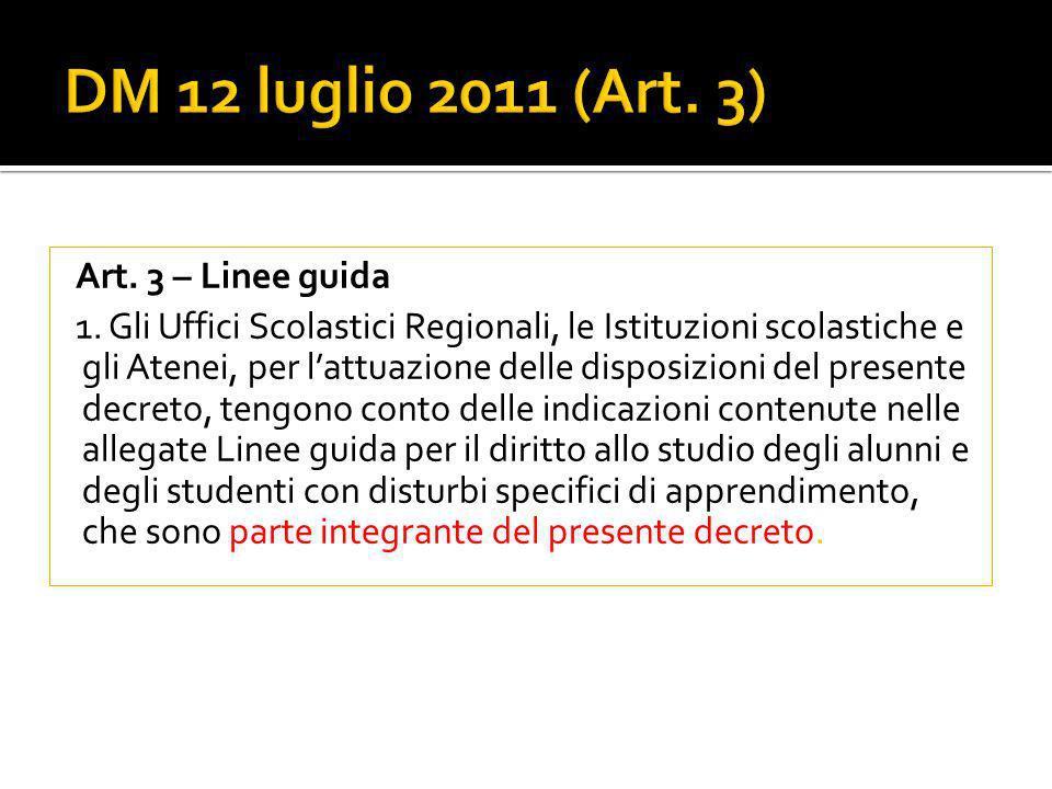 Art.3 – Linee guida 1.