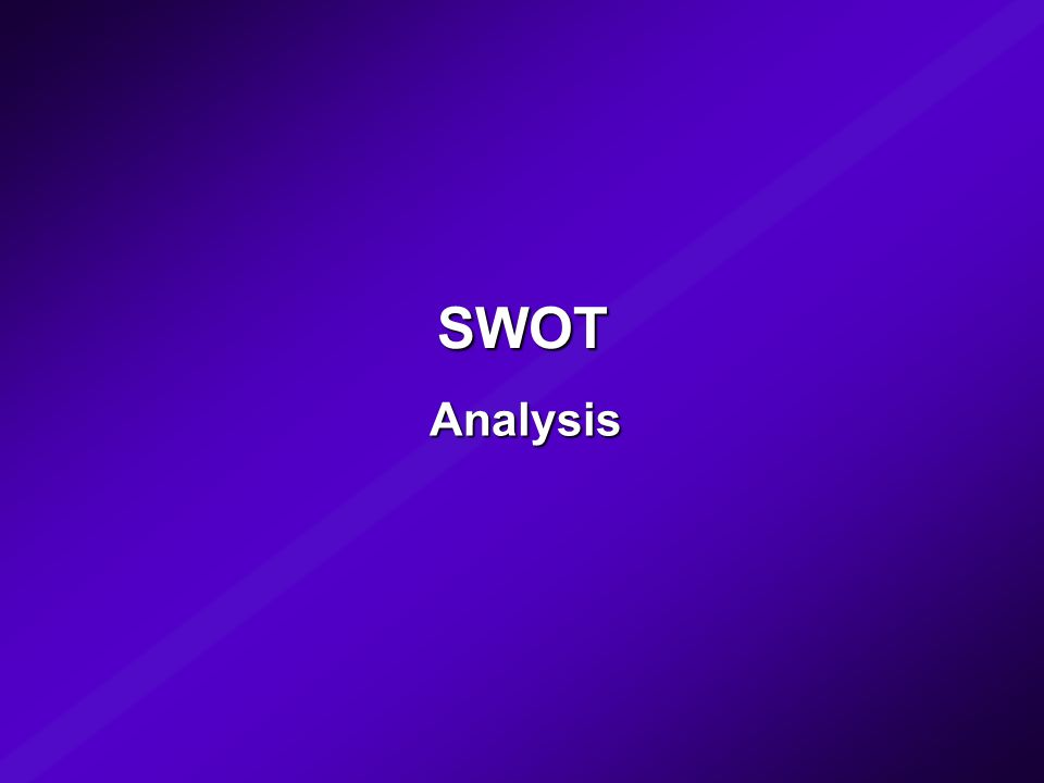 le 5 Forze competitive potere contrattuale fornitori potere contrattuale clienti nuove imprese entranti prodottialternativi potenziali entranti prodotti sostitutivi Clienti Fornitori concorrenti BU rivalità interna (analisi dell attrattività del settore) Il Modello SWOT