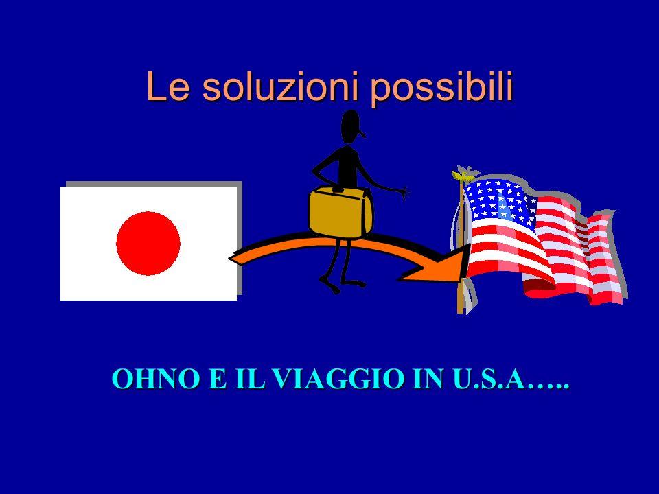 Le soluzioni possibili OHNO E IL VIAGGIO IN U.S.A…..