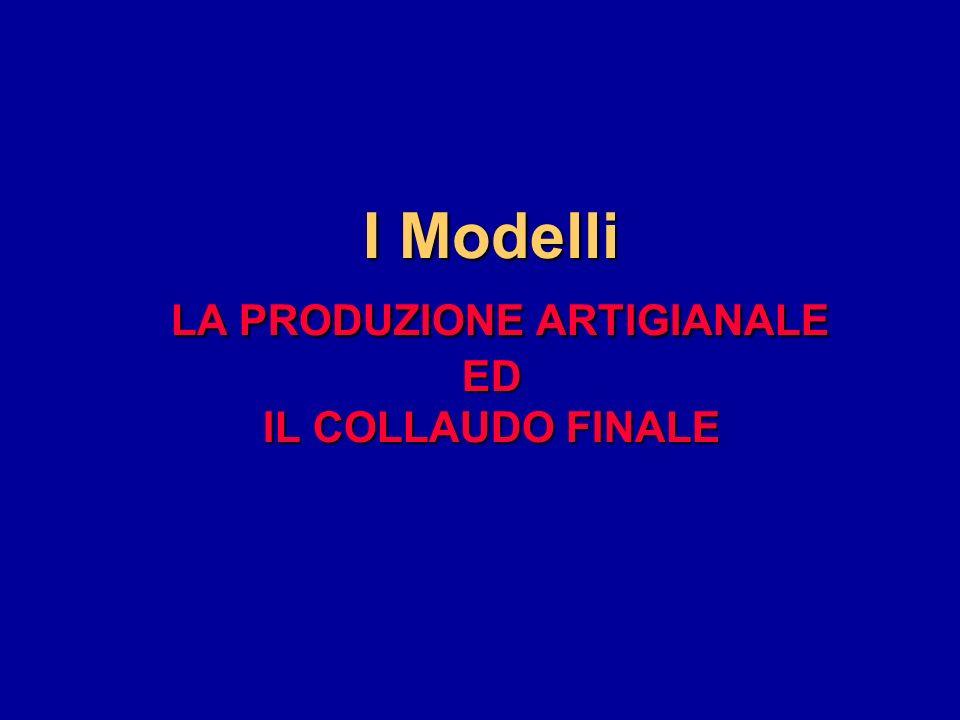 I Modelli LA PRODUZIONE ARTIGIANALE ED IL COLLAUDO FINALE