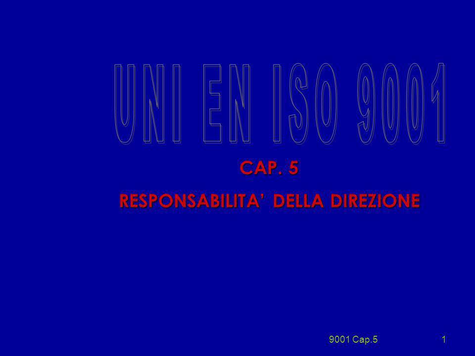 9001 Cap.51 CAP. 5 RESPONSABILITA DELLA DIREZIONE